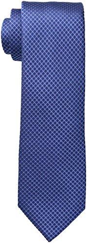 Calvin Klein Men's Steel Micro Solid A Tie, Slate Blue, Regular