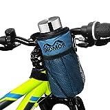 SNDMOR Soporte para Botella De Bicicleta-Soporte para Bebida para Bicicleta con Dos Bolsas De Malla, Adecuado para Bicicletas de Montaña, Bicicletas para Niños, Bicicletas Eléctricas(Azul Claro)