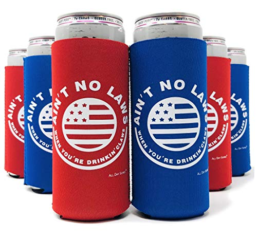Let's Get Lit Christmas Beer Coozies - Set of 6