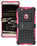 heartly tough hybrid kick stand hard dual shock proof rugged armor bumper back case cover for letv le 1s / leeco le 1s eco/leeco le 1s - cute pink - Pink