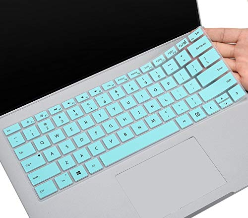 CaseBuy Keyboard Cover for Microsoft Surface Book 2/1 13.5 and 15 inch, Surface Laptop 2 2018, Surface Laptop 2017, Surface Book Accessories, Mint