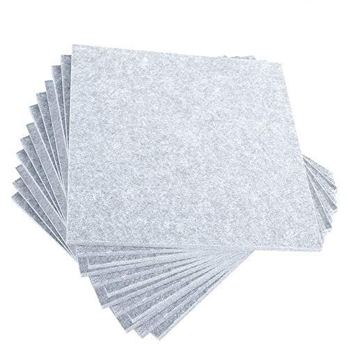 12 Pack Acoustic Panels - Acoustic Foam Sound Proof Panels Nosie Dampening Foam Studio Music Equipment Acoustical Treatments Foam (White)