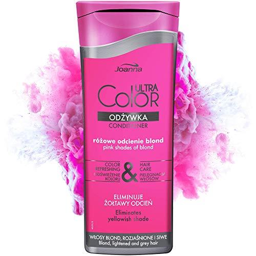 Joanna Ultra Color - Conditioner für Rosa- und Pink-farbene Haare - Farbauffrischung & Pflege - Feuchtigkeitsspendend - für kühle Blondtöne Silberblond Platinblond -...