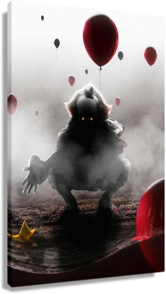 5 ☆ popular It Chapter Two shipfree Movie Pennywise Clown The Painting Poster Dancing