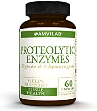 AMVILAB PROTEOLYTIC ENZYMES Trypsin & Chymotrypsin - Effective Resolution of Inflammatory Signs and Edema Due to Acute Tissue Injury. Facilitates Fast