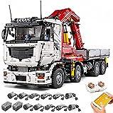 Modello di camion con gru tecnologica, 8238 parti, camion pneumatico tecnologico, set di blocchi di bloccaggio grandi, compatibile con la tecnologia Lego, Mold King 19002