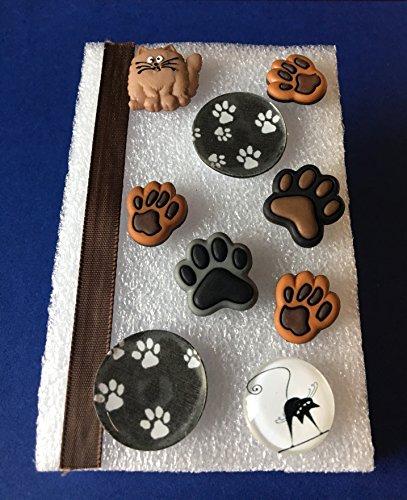 Resin Paw Print Tacks, ResinTacks, Memo Board, Bulletin/Cork Board, Hostess Gifts, Animal Lover, Dorm Decor