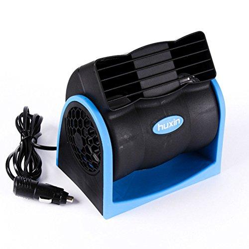 VORCOOL 12 V tragbar Mini Auto Klimaanlage Turbo Ventilator Kühlung Super leise leise Lüfter 2 Geschwindigkeitsstufen Verstellbarer Luftventilator Auto ohne Klingen blau