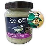 CJ Wildlife 101910415 Erdnussbutter für Gartenvögel 'mit Mehlwürmer' 330 g - empfohlen vom NABU...