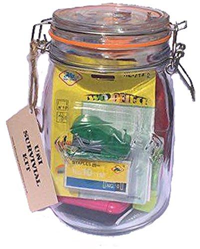 Jarra Kleiner Uni Survial Kit. Increíble regalo para los estudiantes universitarios lleno de diversión y artículos esenciales
