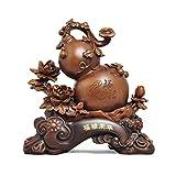 NYKK Productos de decoración Decoración de la Calabaza Feng Shui Lucky Sala de Estar Bougal Estantería Mostrar Wu Lou Decoration Domesswarming New Home Regalo Artesanía Regalo Ornamento de Escritorio