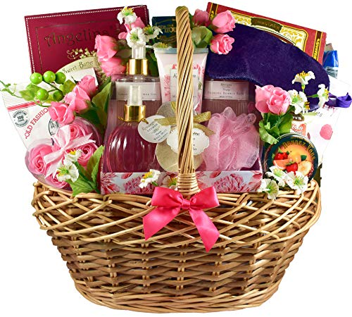 pamper gift baskets Gift Basket Village Mom To Be, Pregnancy Gift Basket with Pregnancy Journal, Decadent Sweets and Pampering Personal Care Products for Expecting Mothers, 14 Pounds