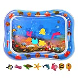 Inflatable Tummy Time Water Mat, Premium Baby Water Mat for Infants & Toddlers Early Development Activities,Infant Toy Baby Play mat for Baby's Stimulation .Growth