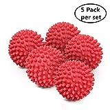 Balles de sèche-linge non fondues - Boule De Lavage Boules de séchage réutilisables pour sèche-linge Red Pack of 5
