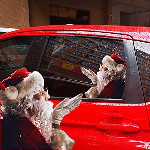 Hunpta @ Wandaufkleber Weihnachten Deko Kreativ Santa Weihnachtsmann DIY 3D-Effekt Selbstklebende Fenster Autofenster Aufkleber Wandtattoos Wohnzimmer Schlafzimmer Wand Party Dekoration