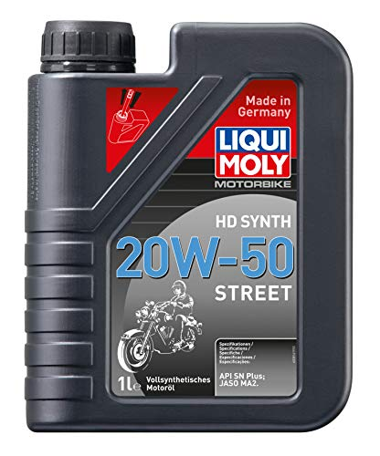 LIQUI MOLY 3816 Motorrad-Motoröl HD Synth Street 20W-50, 1 L