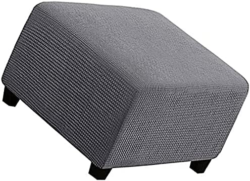 Footstools Covers Ottoman Cover Jacquard Stool Square Stre service Super intense SALE
