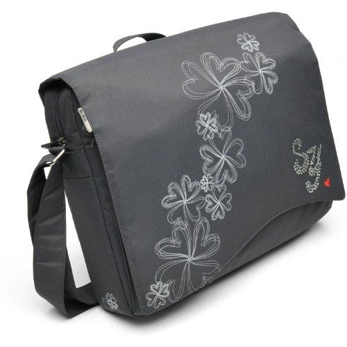 Vivanco - Borsa per PC portatile'Sweet Years Diamond' in Neoprene, 33,8 cm (13,3 pollici), con strass grigio