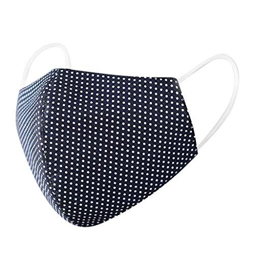 Amphia 5er-Pack Mundschutz waschbar aus 100% Bio-Baumwolle, nachhaltig, Earloop-Design | Wiederverwendbare Behelfs-Abdeckung für Mund Nase in schwarz | Für Brillenträger geeignet (Schwarz)