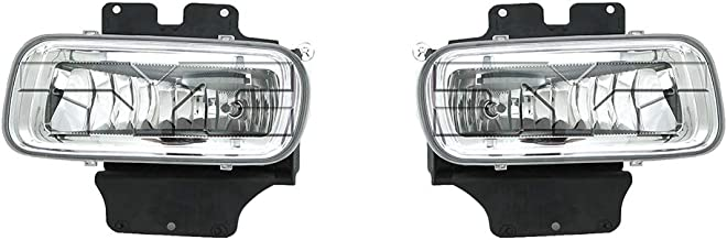 Fits 2004-2005 Ford F-150 Pair Driver and Passenger Side Fog Light NSF Certified With Bulbs Included FO2592209 FO2593209 - Replaces 5L3Z 15201 A 5L3Z 15200 A ;except Heritage
