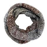 Hyde Sciarpa ad anello, Donne e Uomini Inverno Sciarpa, Caldo Morbido (marrone)