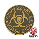 Cobra Tactical Solutions Zombie Outbreak * Response Team Parche PVC Táctico Moral Militar con Cinta adherente de Airsoft Cosplay para Ropa de Mochila Táctica