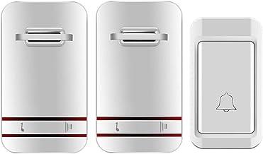 Externe deurbel Draadloze deurbel 38 Melody 3 Niveau Volume Waterdichte Deurbel Kit for Residential Office Hospital (White...