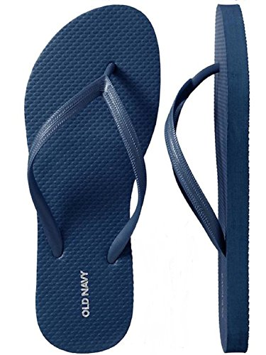 Old Navy Flip Flop Sandals for Woman, Great for Beach or Casual Wear (8, Dk. Blue)