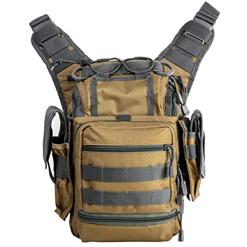 NcSTAR VISM CVFRB2918TU First Responders Utility Bag, Tan with Urban Gray