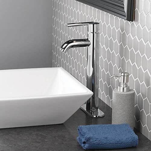 Jacuzzi Elgin Chrome 1-Handle Vessel WaterSense Bathroom Sink Faucet with Drain