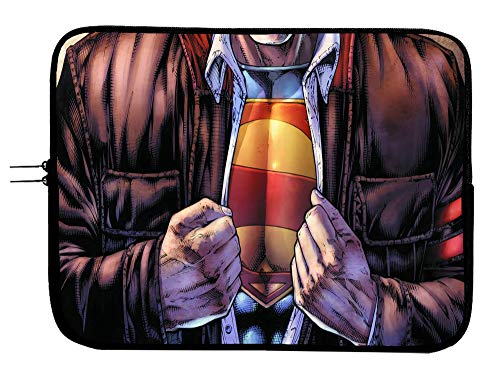 Superman Superhero Laptop Sleeve Notebook Tablet Case Sleeve Bag 13 13.3' Mac Book Pro/Mac Book Air Surface Pro Laptop/Tablet Water Repellent Neoprene Cushioned Case