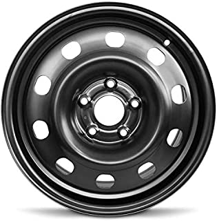 Road Ready Car Wheel For 2013-2018 Dodge Journey 2013-2019 Dodge Caravan 17 Inch 5 Lug Black Steel Rim Fits R17 Tire - Exact OEM Replacement - Full-Size Spare