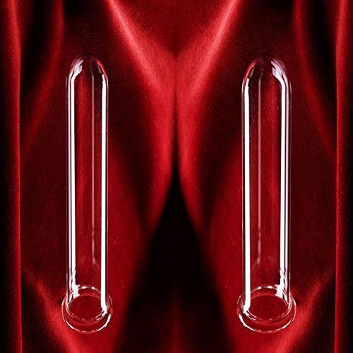 2 Stck Theros ® FMS Borosilit Dilatatoren 24- u. 28 mm zur Dehnung, Flexibilisierung, Massage und Stimulation, anal oder vaginal anwendbar