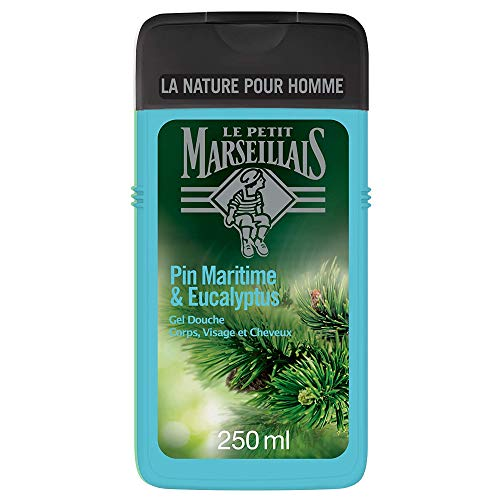 Le Petit Marseillais Hombre Gel de Ducha Cuerpo y Cabello pino marítimo y de Eucalyptus botella de 250 ml