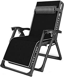 JLN-lounge chair Foldable Zero Gravity Reclining with Cup Holder for Outdoor Yard Porch Black Load-Bearing 200kg