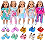 ZITA ELEMENT American 18 Inch Girl Doll Clothes Outfits Lot 7 = 5 Daily Costumes Clothes...