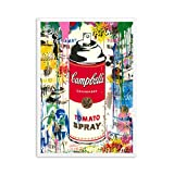 Girl With Balloon Street Wall Graffiti Paintings Art Canvas Prints for Kids Room Decor (No Frame) as picture shows 40x60cm