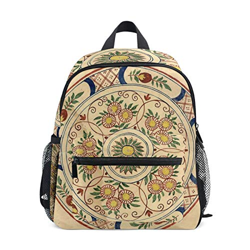 Backpack for Boys and Girls Mini Backpack Travel Bag with Chest Clip Vintage Style