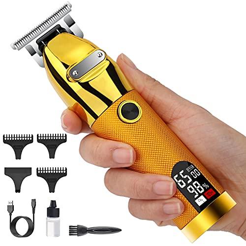 Haarschneidemaschine Profi Haarschneider Herren Elektrisch Langhaarschneider,Präzisionstrimmer Haar und Bartschneider,LED-Anzeige,Wiederaufladbar Schnurlose Barber Haartrimmer für Männer und Friseure