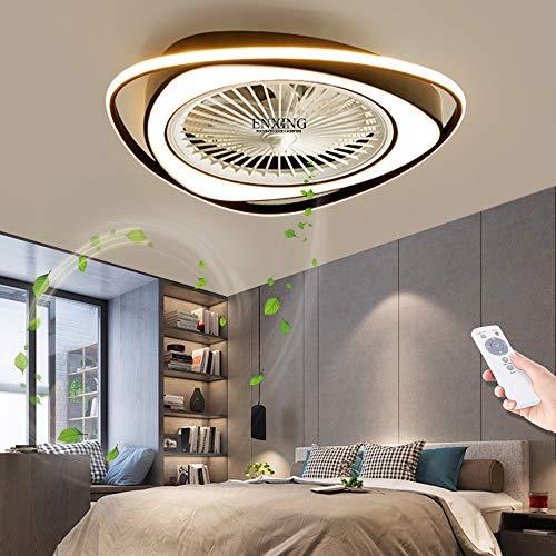Fan Deckenventilator Moderne LED Fan Deckenleuchte Mit Fernbedienung Leise Fan Deckenlampe Schlafzimmer Lampe Wohnzimmer Kindergarten Kinderzimmer Unsichtbares Fan Licht Beleuchtung,Schwarz