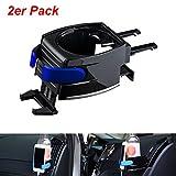 QEUhang 2 soportes universales para bebidas de coche, 2 en 1, soporte para botellas de café, soporte para ventilación de coche