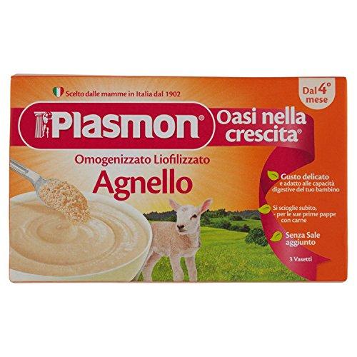 Plasmon Liofilizzati Agnello - 3 confezioni da 3 pezzi da 10 g - Totale: 90 g