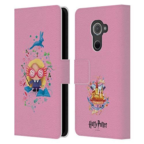 Head Hülle Designs Offizielle Harry Potter Luna Lovegood Deathly Hallows II Leder Brieftaschen Huelle kompatibel mit BlackBerry DTEK60