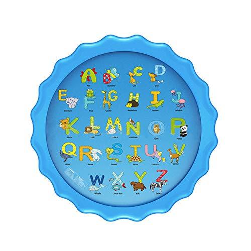 Almohadilla de agua de aerosol inflable de juguete para niños de verano, juego de almohadilla de agua, juego de almohadilla de playa, rociadores de césped, bañera al aire libre, piscina, 170 cm, 03