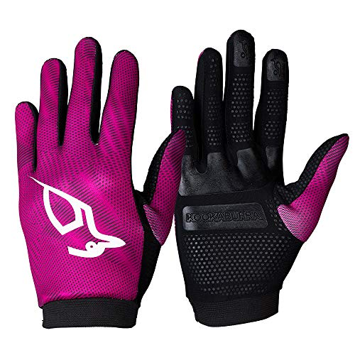 Kookaburra Unisex Stickstoff-Hockey-Handschuhe, Mauve, Größe M, 1 Paar