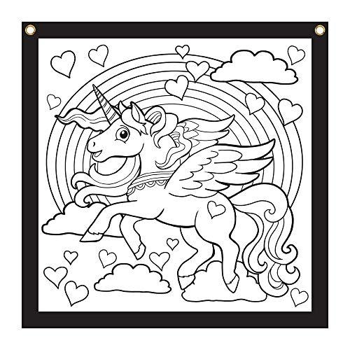 Rico Industries Unicorn Design Color-Me Felt, 24 x 24-inches, White (CMF122479CM)