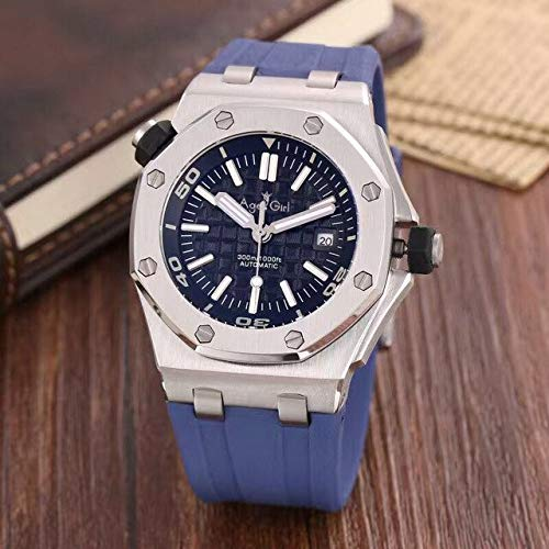 DMZZYGJR Top New Luxury Brand Men Stainless Steel Automatic Mechanical Watch Diver Sapphire Sport Watches Black Rubber Rose Gold Silver 1