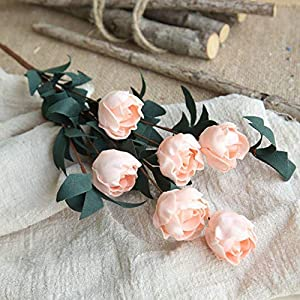 6 Heads/Bouquet Rose Decor Home Imitation Fake For Garden Plant Desk Hand-Holding,2