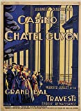 Chatel Guyon Casino Bal Travesti Auvergne Poster,