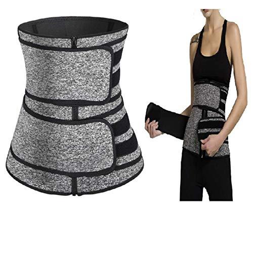 SHUIZHUYU Cinturones de Cintura para Mujer Fajas Corsé CinturóN de Entrenamiento CinturóN de Sudor Caliente Faja de Cuerpo Cincher con Cremallera Cintura TamañO CinturóN de Control de Barriga M